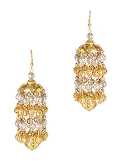 Silver And Gold Beaded Kalira Earrings - By