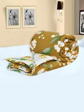 Multi Colored Floral Printed Cotton Single Comforters - Salona Bichona