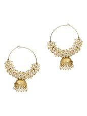 Multi Colored Pearl , Alloy Metal Jhumka Earring - By