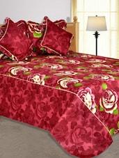 Multi Colored Floral Printed Cotton Blend Bed In A Bag - Salona Bichona