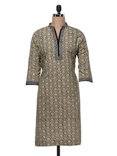 Cotton Casual Printed Kurta - Kaccha Taanka