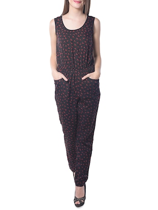 black Polyester jumpsuit -  online shopping for Jumpsuits