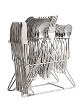 Stainless Steel Cutlery Set With Stand - Dinette