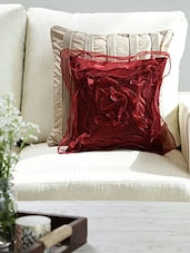 Dekor World Tissue Floral Cushion Cover (Pack Of 5 Pcs) - By