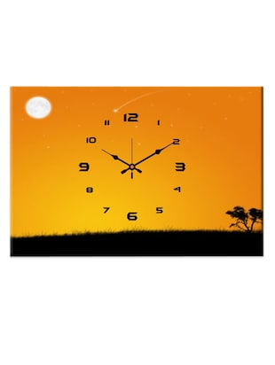 Vibrant scenery analog wall clock