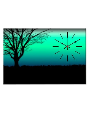 Multicoloured scenery wall clock