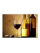 Wine Table Photo Print Wall Clock - Design O Vista