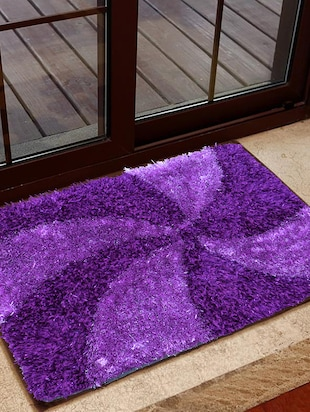 purple POLYESTER Doormat