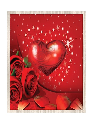 multicolor Canvas valentine gift painting
