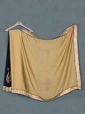 Chic Black And Gold Georgette Saree - Aarohii