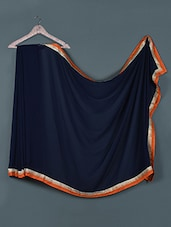 Chic Navy Blue Georgette Saree - Aarohii
