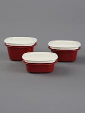 Red Storage Containers Combo Set Of 3 - By