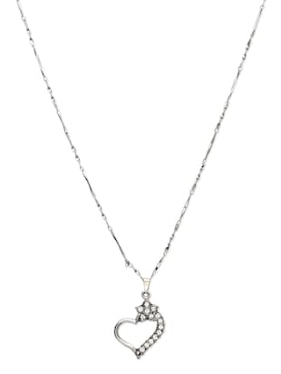 Silver Plated Heart Shaped Necklace
