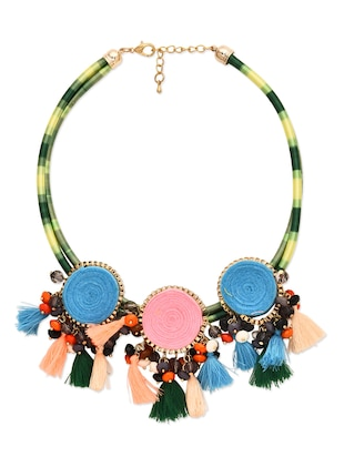 Nylon and Wool Fashion Necklace