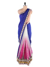 Understated Chic Navy Blue Saree - Kashish Lifestyle