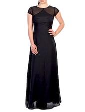 Black Georgette Dress - By